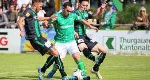 FC Kreuzlingen (Gruen) gegen FC St. Gallen auf der Sportanlage Hafenfeld Kreuzlingen am Samstag 18. Juni 2016 (FOTO GACCIOLI KREUZLINGEN)