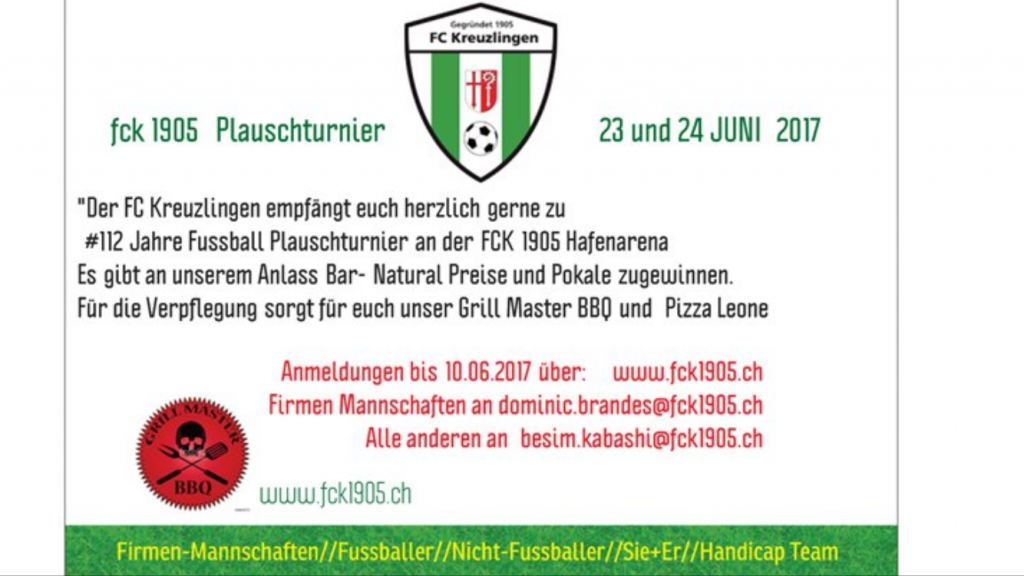 FC Kreuzlingen Firmen- und Plauschturnier 2017