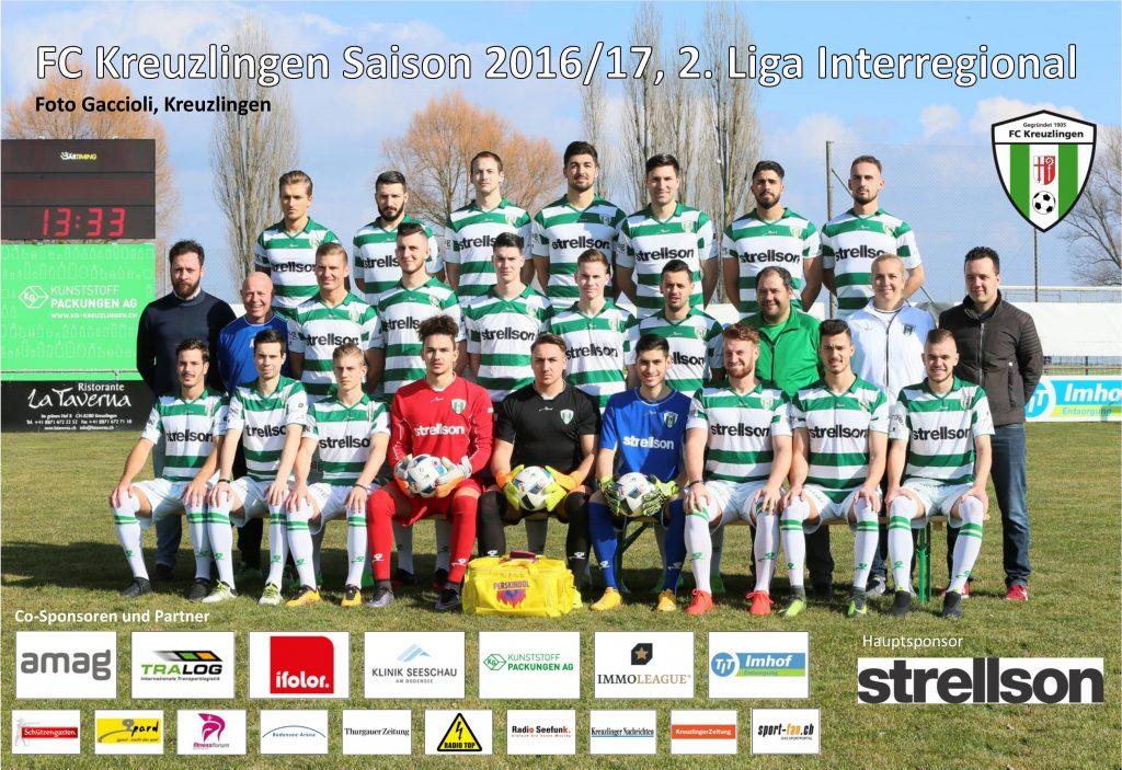 FC Kreuzlingen, 1. Mannschaft Saison 2016/17