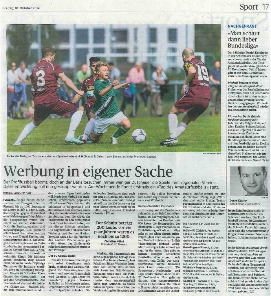 Sankt Galler Tagblatt 101014