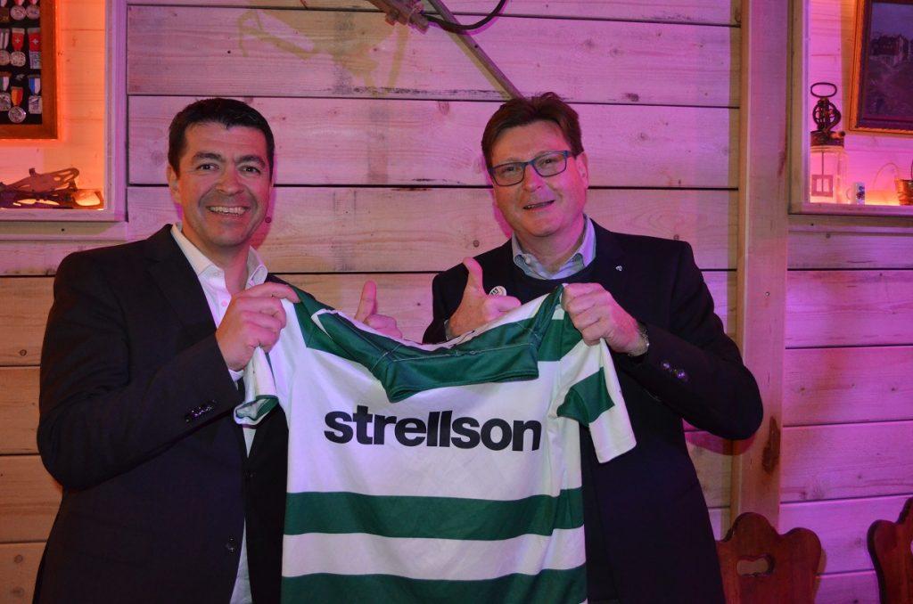 CEO Strellson Dr. Marcel Braun und FCK-Präsident Daniel Geisselhardt